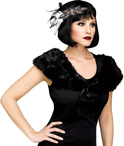Fun World 1920's Black Stole Womens Flapper Shoulder Cape Costume, Standard]()
