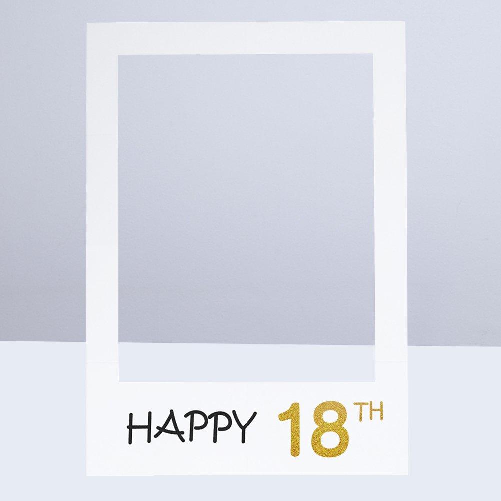 BESTOYARD Alles Gute zum Geburtstag Photobooth Requisiten Rahmen ...