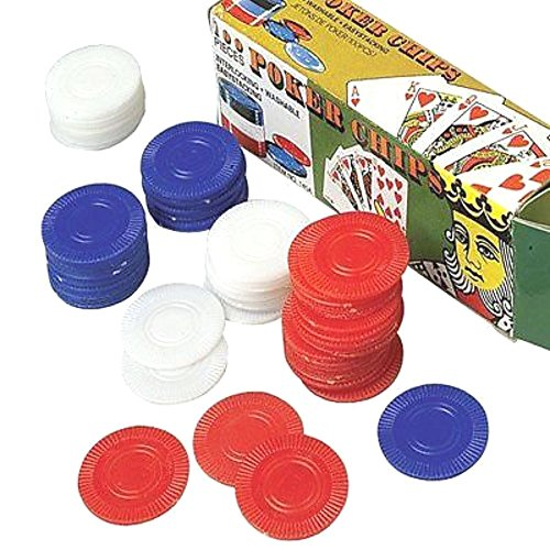 Party Supplies -800 Plastic Poker Chips - Red White Blue (Outlet Jackson In Nj)