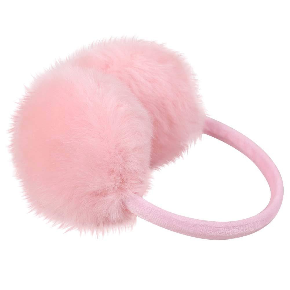 Nanxson Women/Girl Solid Color Plush Earmuff/Ear Muffle EZ0008 (pink)
