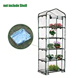 Thiningstars Greenhouse Plastic Sheeting Winter Protection Cover Replacement for Outdoor Plant Flower Garden Accessories 73.6X27.1X19.3in (without Iron Stand)