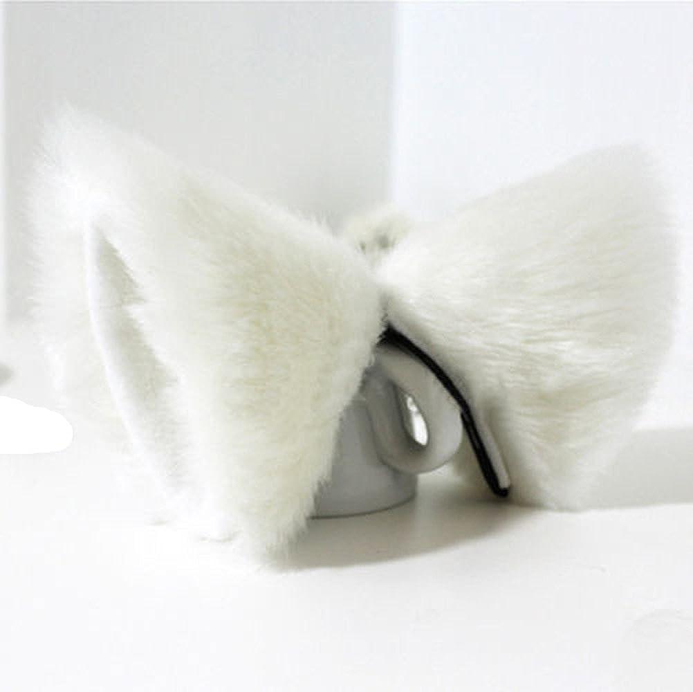 Chunlin Orecchiette Party's Cat Fox Long Fur Ears Anime Neko Costume Hair Clip Cosplay