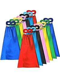 Superhero Capes and Masks Set Kids DIY Dress Up Costume for Parties - 28pcs(14sets)