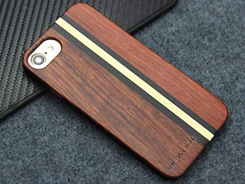 Yfwood compatible for iphone 7 wood case, real wood pattern high impact durable shockproof heavy duty back protective… 3 ❶ wooden iphone 7 case,iphone 8 case ,slim-fit, so it won't make your device bulky, or difficult to manage. Easy to access all ports,controls and buttons without removing the case. The case edges are fully covered and slightly raised to protect your screen from scratches ❷good drop protection with reinforced corners: reinforcement bumper covers all 4 corners that raised bezel to lift screen and camera off flat surface that the iphone 7 wood case offer the maximum protection for your iphone 7/8 when it dropped. ❸ ergonomic design-practical protector, this stylish and luxurious wood cover offers an enhanced grip and textured geometric design that adds even more protection to this iphone 7 case,iphone 8 case