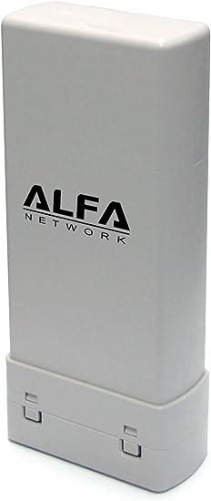 Alfa - Adaptador de red USB para exterior de largo alcance (2 W, estándar 802.11b, gyn, antena integrada de 2 dBi, hasta 150 Mbit/s)