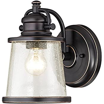 Westinghouse 6204000 Emma Jane 1 Light Outdoor Wall Lantern Amber Bronze