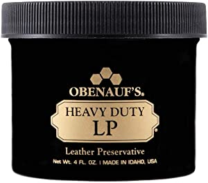 Obenauf's Heavy Duty LP Leather Conditioner Natural Oil Beeswax Formula (4oz)