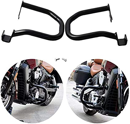 For Indian Scout 2015-2018 Engine Guard Highway Crash Bar Protection Kit 1 Pair Black