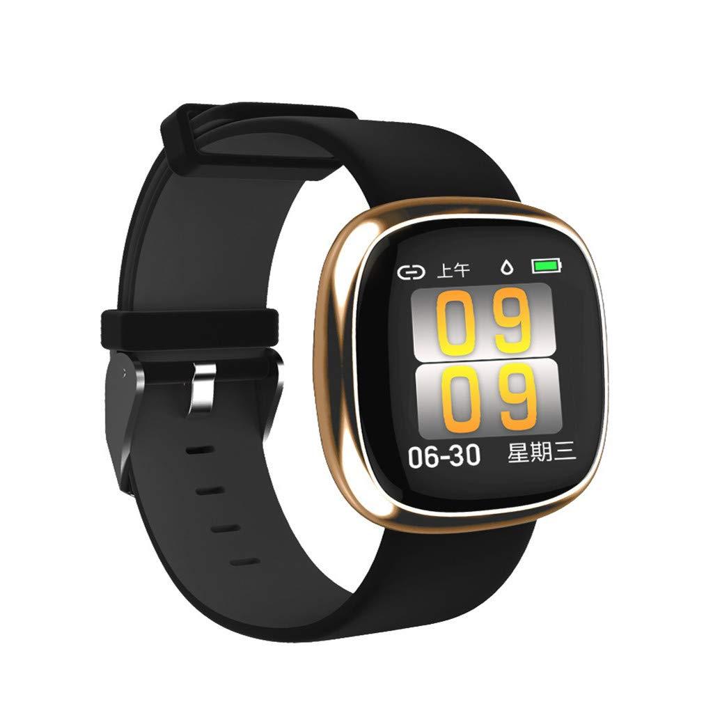 TADAMI P2 Smart Watch Bluetooth Heart Rate Blood Pressure Sports Step Watch Smart Watches Electronics (B)