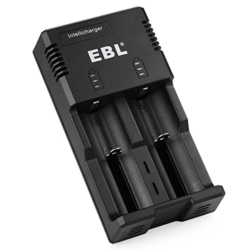 EBL Smart Battery Charger for 18650 AA AAA & C Size Li-ion Ni-MH Ni-CD Rechargeable Battery with iQuick Technology (26650 Battery Charger)