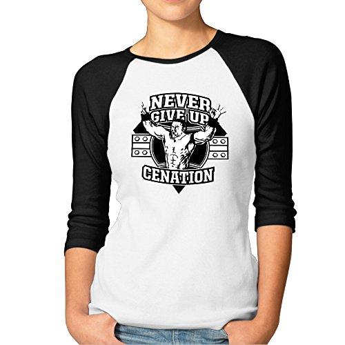 Women Wwe John Cena Quotes Baseball Raglan Shirts 3 Quarter (Cena Di Halloween A Casa)