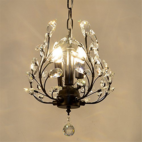 Modern LED Pendant Flush Mount Ceiling Fixtures Light American style off hanging crystal lamp chandelier hall creative light retro tree crystal lamp, 330 h370mm by XBLIGHTING