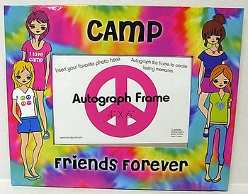 (Bunk Junk Tie Dye Camp Friends Forever Autograph Picture Frame)