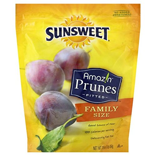 Sunsweet Pitted Prunes 16 oz (Pack of 4)