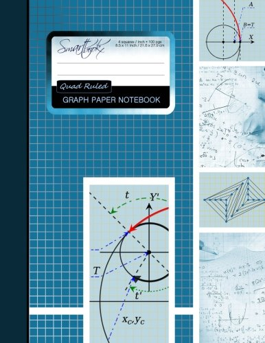 "Graph Paper Notebook: Squared Graphing Paper * Blank Quad Ruled * Large (8.5"" x 11"") * Softback (Composition Books)"