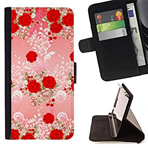 - Red Rose Valentines Gift Mothers Day - Estilo PU billetera de cuero del soporte del tir???¡¯????n [solapa de cierre] Cubierta- For Samsung Galaxy S5 Mini, SM-G800 £¨ Devil Case £©