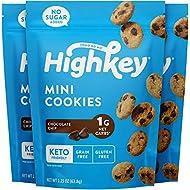 HighKey Snacks Keto Food Low Carb Snack Cookies, Chocolate Chip, 3 Pack - Gluten Free & No Sugar Added, Healthy Diabetic, Paleo, Dessert Sweets, Diet Foods
