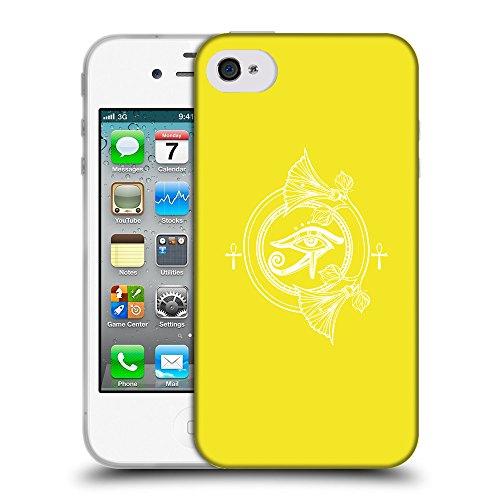 GoGoMobile Coque de Protection TPU Silicone Case pour // Q09900625 Religion 30 Jaune canari // Apple iPhone 4 4S 4G