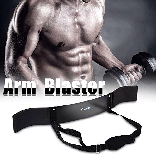 CUSCO Blaster Isolateur Biceps avec Tour de Cou Rembourré et Ceinture Réglable en Acier à Ressort pour Entraînement Exercice Musculation Biceps Bras Fiteness