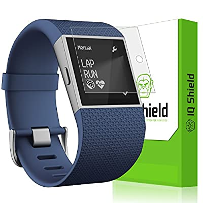 IQ Shield LiQuidSkin [6-Pack] - Fitbit Surge Screen Protector with Replacement Warranty - High Definition (HD) Ultra Clear Screen Film - Premium Guard - Smooth / Self-Healing Bubble-Free Shield
