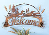 Loons Welcome Sign Metal Wall Decor For Sale