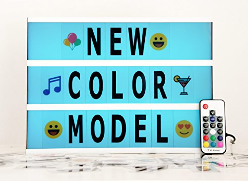 Pilot Colored Bulbs (Color Changing LED Cinema Light Box with 210 Letters - A4 Size DIY Light Bar Sign with Marquee Letters, Home/Party/Shop Decoration, Colorful Numbers/Letters/Emojis, Valentine's Day Surprise)