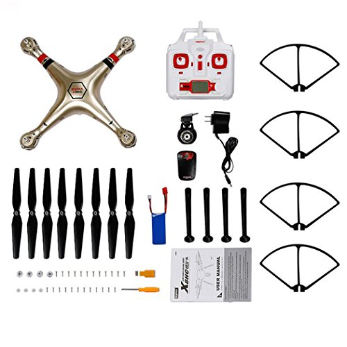 - bangcool Syma X8HC Drone Toy Channel Drone Golden Hovering Remote Control Flying Copter Quadcopter