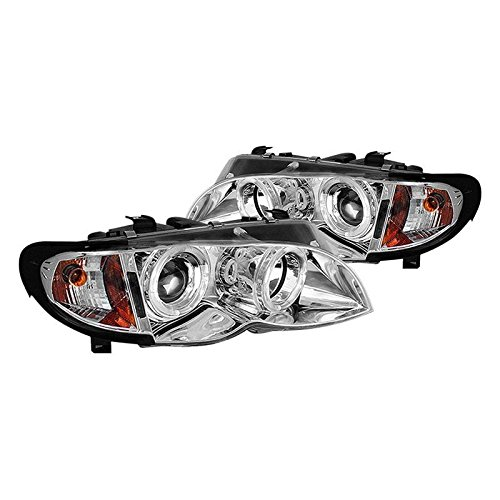 Make Auto Parts Manufacturing - Set of 2 Halo Projector Headlights w/Corner Lamps for BMW E46 Sedan 2002-05