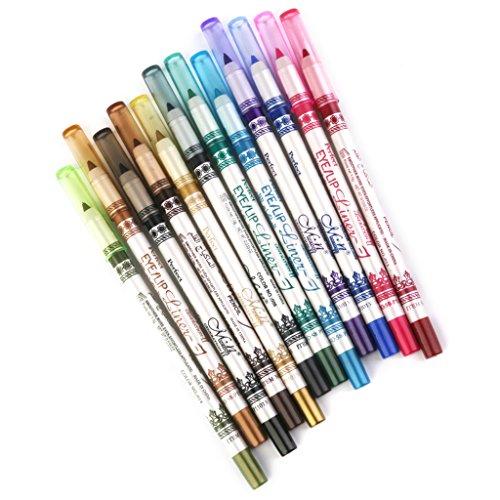 12 Farben Wasserdicht Eyeliner Eyeliner Augen Kosmetischen Make up Set