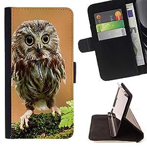 - Owls owl Cute/ Personalizada del estilo del dise???¡Ào de la PU Caso de encargo del cuero del tir????n del soporte d - Cao - For Samsung Galaxy S6