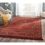 Safavieh SER210B-4 Serenity Collection Ruby/Gold Area Rug, 4-Feet by 6-Feet