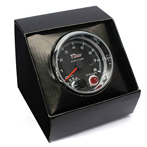 Rev Shift - AUDEW Universal DC12V 3.75 Inch Tacho with Shift Light RPM Rev Gauge Meter