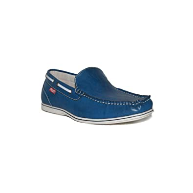 PEZATTI PEZATTI Mocasin.17D Zapatos Mocasines Hombre Azul Modernos Casuales