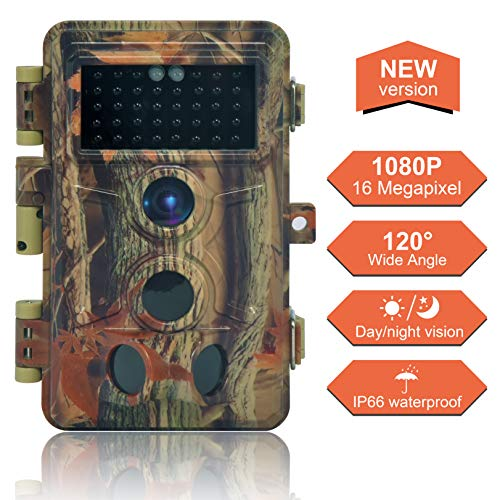 DIGITNOW Trail Camera 16MP 1080P, Game Camera with No Glow LED Infrared Night Vision Up to 65Ft,...