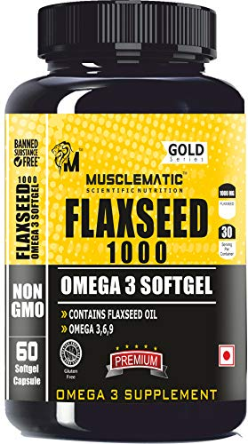 Musclematic Scientific Nutrition Flaxseed 1000-60 Capsules