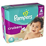 Pampers Cruisers Disposable Diapers Size 4, 24