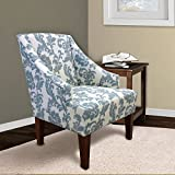 Armen Living LC2988CLGR Ikat Fabric Accent Chair, Ikat Slate