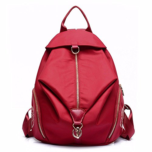 backpack Red canvas schoolbag bag female MSZYZ tide female Shoulder red bag 8xfzqqwtE
