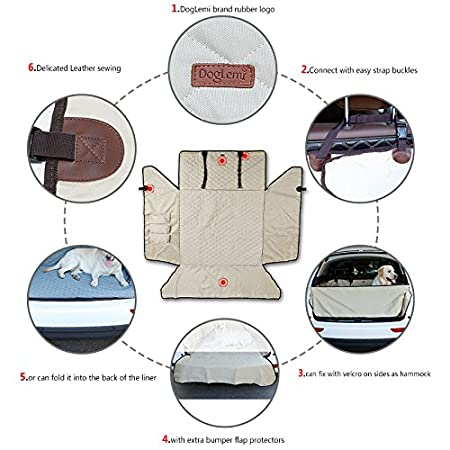SUV Car Boot Liner,Trunk Cargo Cover Mat Heavy Duty Boot Covers Bumper Protector,Quilted Nylon Oxford Fabric Durable Waterproof Scratch-proof Non-slip Bumper Flap Collapsible Fit Boot Area 35x40Inch