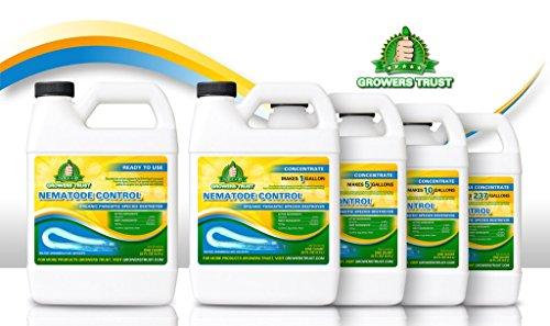 Growers Trust Nematode Control Non-toxic, Biodegradable - Natural Nematode -Treatment (Solution Makes 1 gallon RTU)