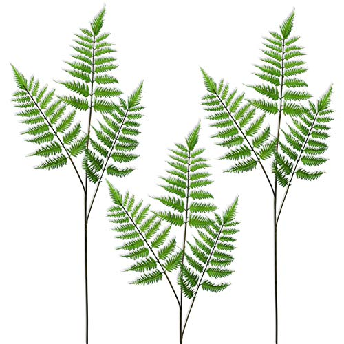 Beebel Artificial Areca Boston Fern Plants Greenery Tropical Leaves Face Fern Plant for House Office Garden Indoor Outdoor Decor (Tropical Garden Indoor)