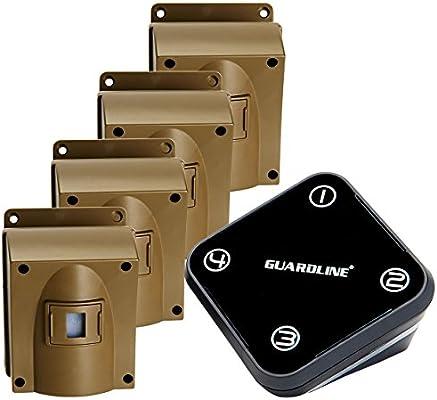 Amazon.com: Guardline Wireless Driveway Alarm w/Four Sensors ...