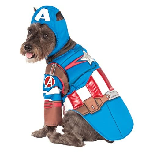 Rubies Costume Avengers Assemble Deluxe Captain America Pet Costume, Small