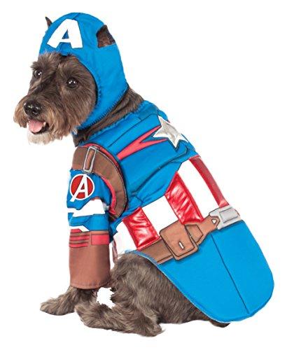 pet costume captain america - 1