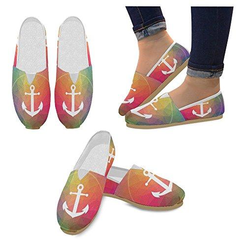 Interestprint Mujeres Loafers Classic Casual Slip On Zapatos De Moda Zapatillas De Deporte Pisos Ancla Náutica Ancla Náutica