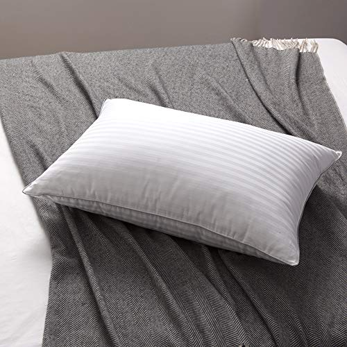 (L LOVSOUL White Goose Down and Feather Bed Pillows - Three Chambers Design,1000TC 100% Egyptian Cotton Cover Standard/Queen Size,Soft Pillow (1 Pillow))