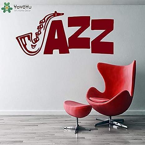 Tatuajes de pared Jazz Sign Mural Patrón de saxofón Pegatinas de ...