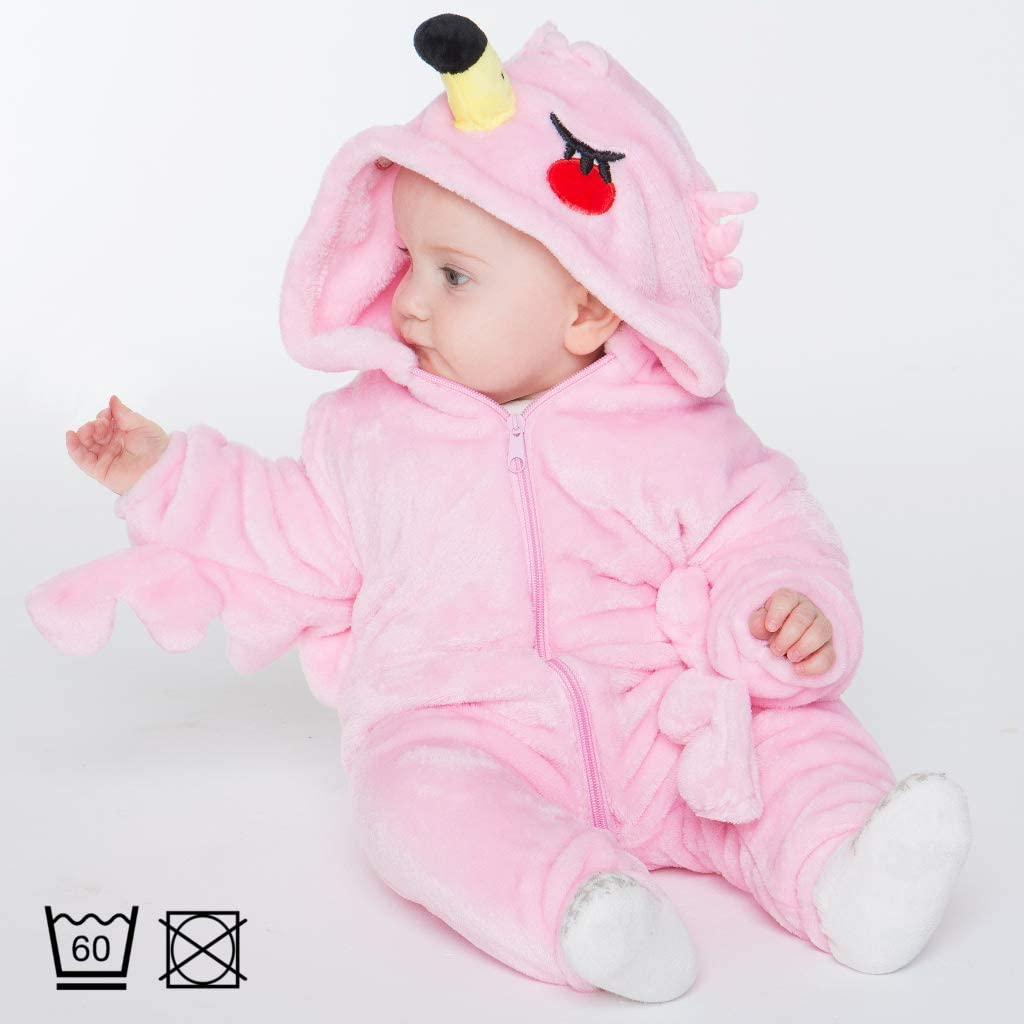 Brown Boy Girl Winter Outfit Henry the Sloth Jumpsuit Hooded Newborn Baby Various Animal Designs corimori 1850 Body Size 60-70 cm