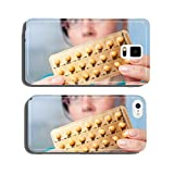 Birth control pills in hands of young woman cell phone cover case iPhone5