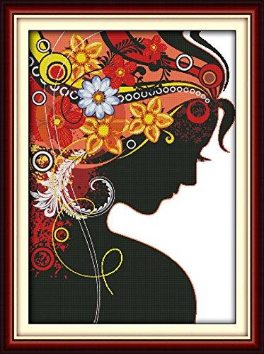 Joy Sunday Cross Stitch kits, Flower woman